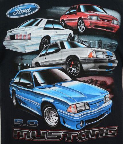 79-93 Ford Fox Body Mustang 5.0 T-shirt 100/% Cotton Preshrunk