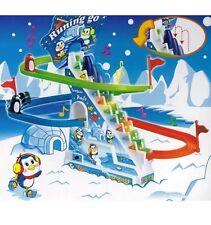 Penguin Slide RACE GAME Classic Racer Pista con Ritmica Musica Bambini Giocattoli
