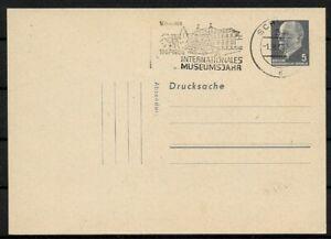 GDR-Stationery-Drucksache-Walter-Ulbricht-Postmarked-Museum-Year-Schwerin-1968