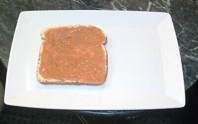 Faux Fake Food Replica PEANUT BUTTER TOAST Bread Display Theatre Movie PROP