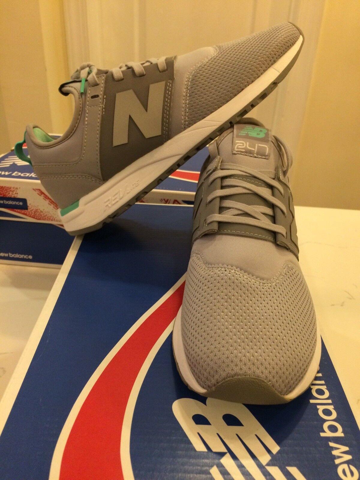 Nuevo En Caja Tenis New Balance de mujer 247 WRL247FC Plata Visón vivos Jade zapatos