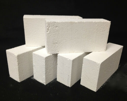 "K-26 Insulating Firebrick CASE of 24 IFB 9/"" x 4.5/"" x 2.5/"" Thermal Ceramics 2600F"