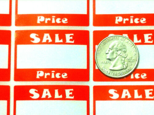 PACKAGE OF 500 PRIME QUALITY RETAIL STORE SALE PRICE STICKERS TAGS LABELS NEW