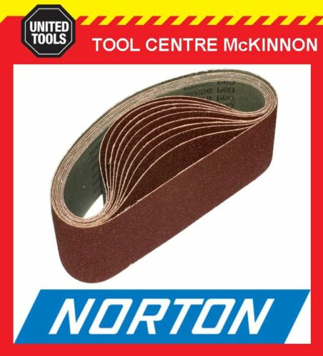 """SANDING BELT 10 x NORTON #60 GRIT 3"""" 75 x 610 SUIT MAKITA 9924DB AND OTHERS"""