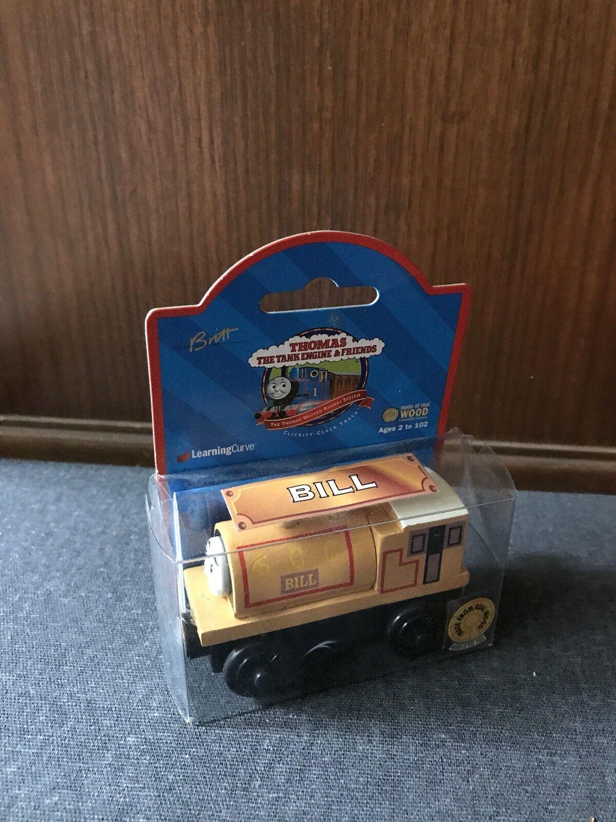 RARE Retired Thomas Wooden Railway 1999 Brown Label Bill  NIB