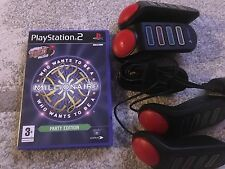 BUZZERS FOR  PLAYSTATION 2 + ONE GAME - PS2 - WHO WANTS TO BE A MILLIONAIRRE