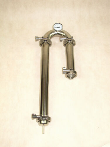 2 STAINLESS STEEL PROFESSIONAL MOONSHINE STILL HEAD FREE SHIPPING