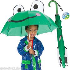 Frog Umbrella Raining Dry Head Cover Rain Wet Protect Water  Green Froggy Open