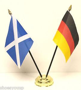 Escocia-amp-Alemania-Juego-de-banderitas-de-amistad-Base