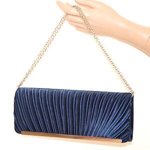 POCHETTE-donna-blu-raso-argento-borsello-cerimonia-borsa-elegante-da-sera-F75