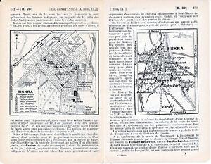 Algérie Biskra + Environs 1916 pt. plan ville orig. + guide (9 p.) Village Nègre iBNMuM3Z-09084634-445195509
