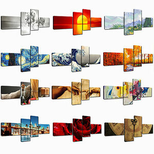 Quadri moderni Stampa su tela 4 pezzi cm 172x74 Quadri Moderni Astratti XXL Casa