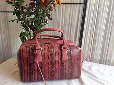 Rare Smythson ' Dover' Handbag, Salmon, Snakeskin& Calfskin Leather,BNWT!