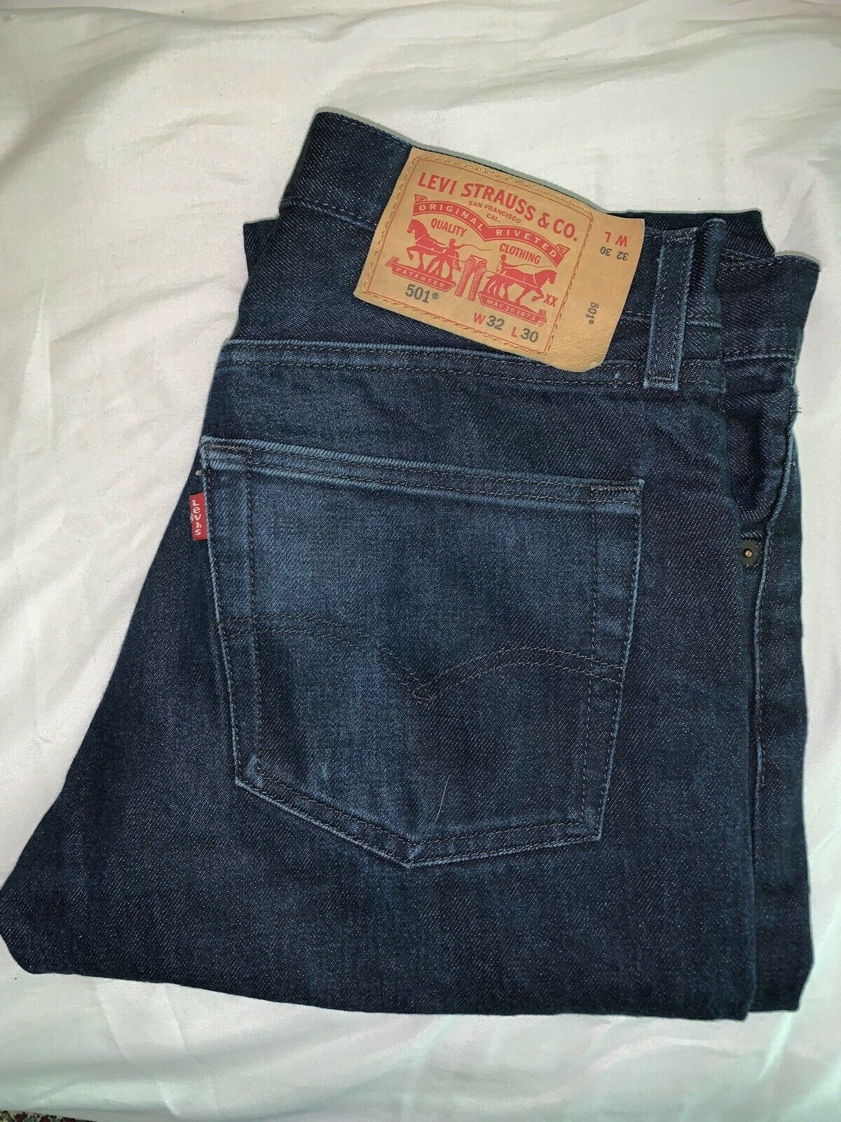 Levis 501 Distressed Jeans Size 32x30 Great Used … - image 2