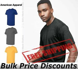 American-Apparel-Mens-Slim-Fit-50-50-Cotton-T-Shirt-Tee-BB401W-up-to-2XL