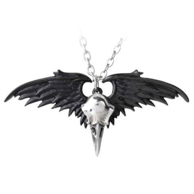 Alchemy Gothic Dragon Skull Pewter Curb Chain Pendant Necklace 5.5cm