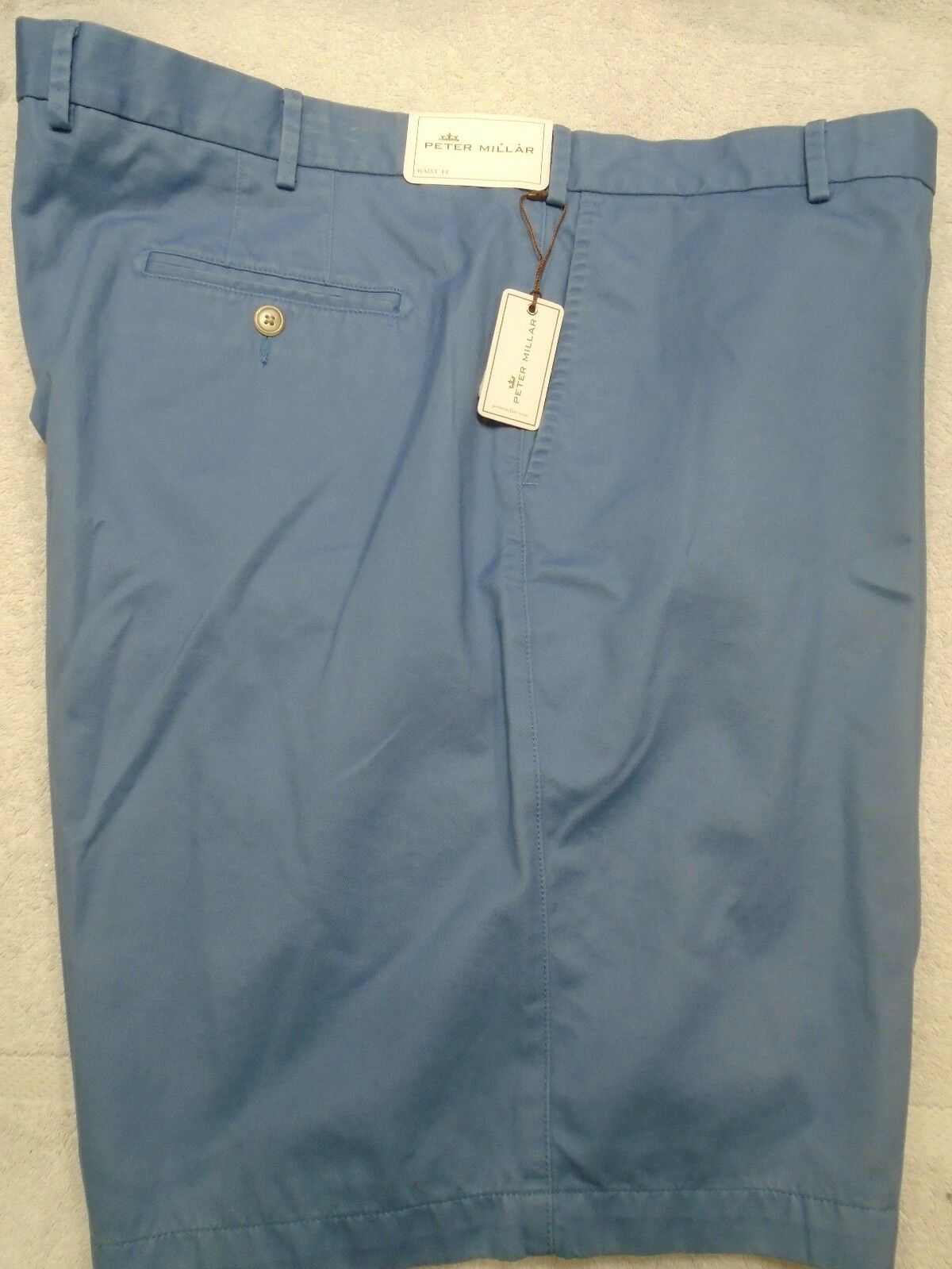 Peter Millar Winston Pima Cotton Twill Short NWT 44 waist  Made in Peru
