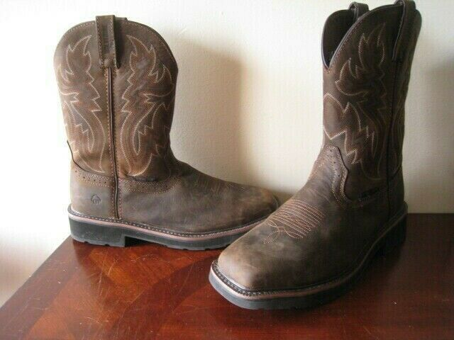 Wolverine Men's Sz 11.5M Rancher Square Steel Toe Western Boots W10702 Brown