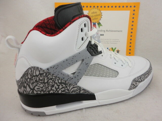 a2853d4c1c104f Nike Air Jordan Spizike White Varsity Red Cement Grey 315371-122 Men s Size  14