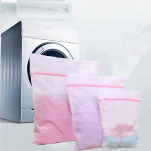 3PCS Zipped Machine Laundry Bag Washing Mesh Net Bra Socks Lingerie Storage Bags