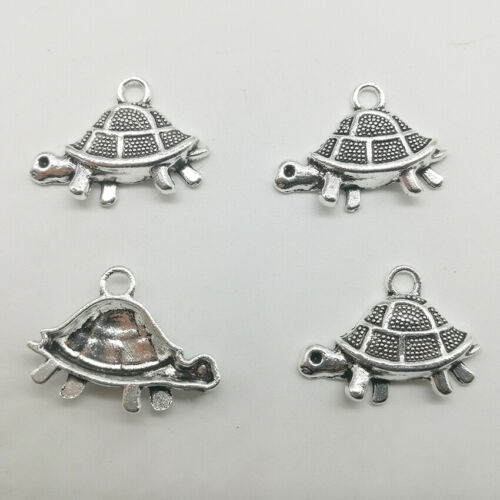 Lot 6~50pcs tortoise antique silver charms pendants jewelry marking DIY 18*26mm