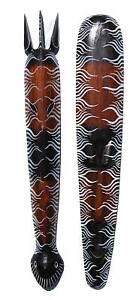 2 x Wandmaske 1,00M Zebra Holzmaske 100cm Tribal Maske
