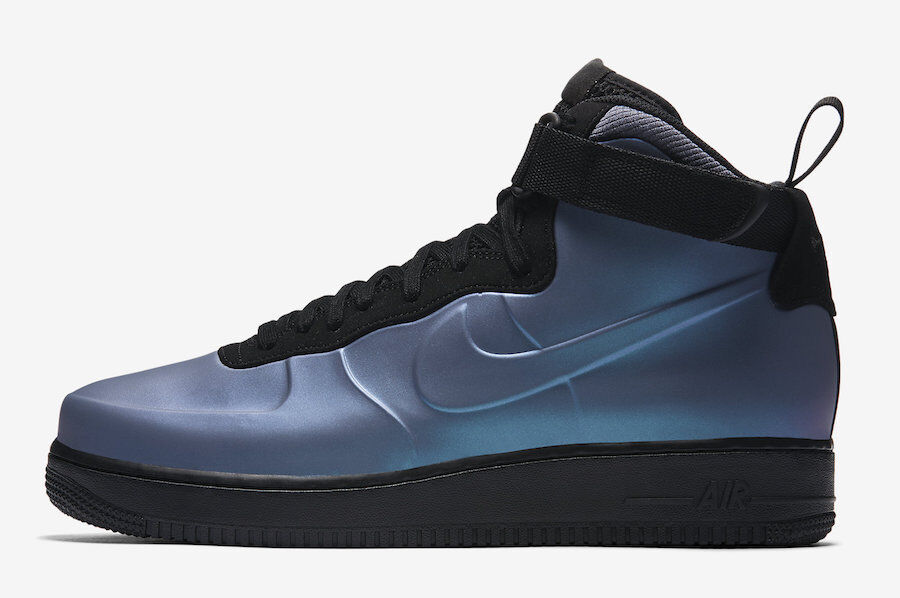 new concept bbe9c 0eb22 Nike Nike Nike Air Force 1 Foamposite Cup Light carbon negro azul ah6771  002 AF1 Uptown