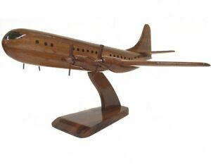 Wooden Desktop Model. Civilian Aircraft Boeing 377 Stratocruiser