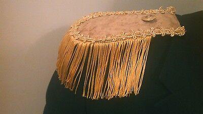 NEW 2 GOLD EPAULETTES STEAMPUNK PIRATE COSPLAY COSTUME LARP SBANGE PRIORITY