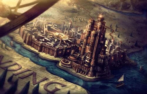 photo poster show tv art Encadrée imprimer-kings landing game of thrones