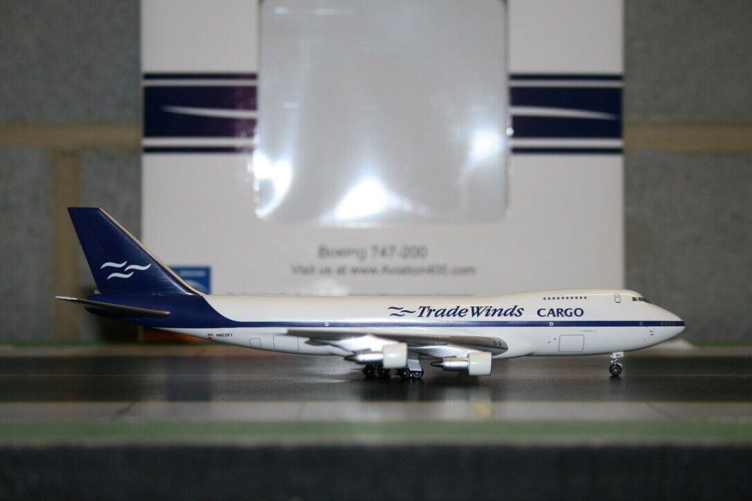 Aviation400 1 400 Trade Winds Boeing  747-200F N922FT (AV4742024) Model Plane  différentes tailles