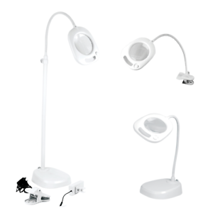 Purelite 3 in 1 Magnifying Lamp, With 21 LED's, Floor standing, Table & Clamp!