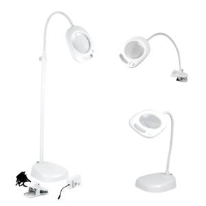 Purelite 3 en 1 Lampe d/'agrandissement avec 21 led/'s table et pince! sol debout