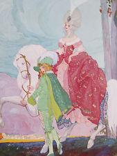 U. Brunelleschi Temps Jadis Art Deco Print X - 1912