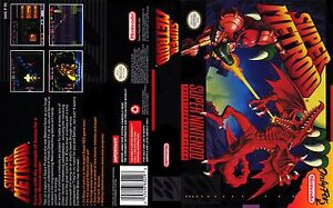 Super Metroid Replacement Snes Box Art Case Insert Cover Inlay Only Ebay