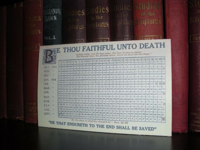 1914 Countdown Card C.T Russell Watchtower Bible Students Jehovah IBSA