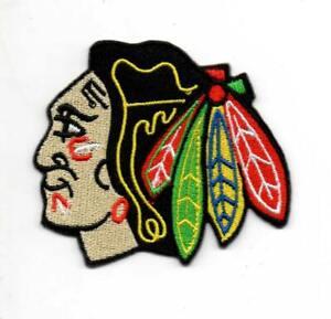 uk availability c827a e762b Image is loading NHL-Chicago-Blackhawks-Sport-P63-Embroidered-iron-on-