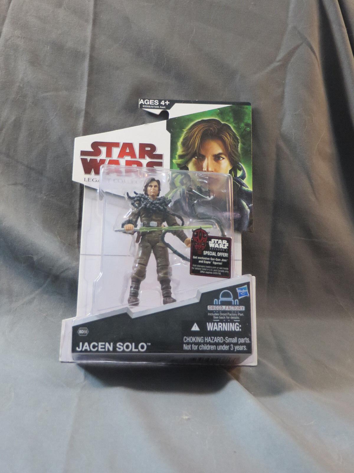 2009 Hasbro estrella guerras Legacy Collection Jacen Solo  MOC BD59 Jedi Knight  Spedizione gratuita al 100%