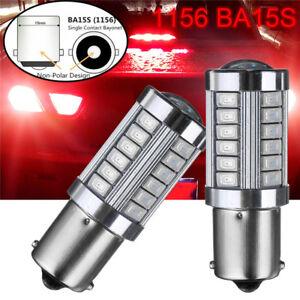 2x-1156-BA15S-33-LED-5730-SMD-Ruecklicht-Bremslicht-Rueckfahrlicht-Auto-Birne-12V