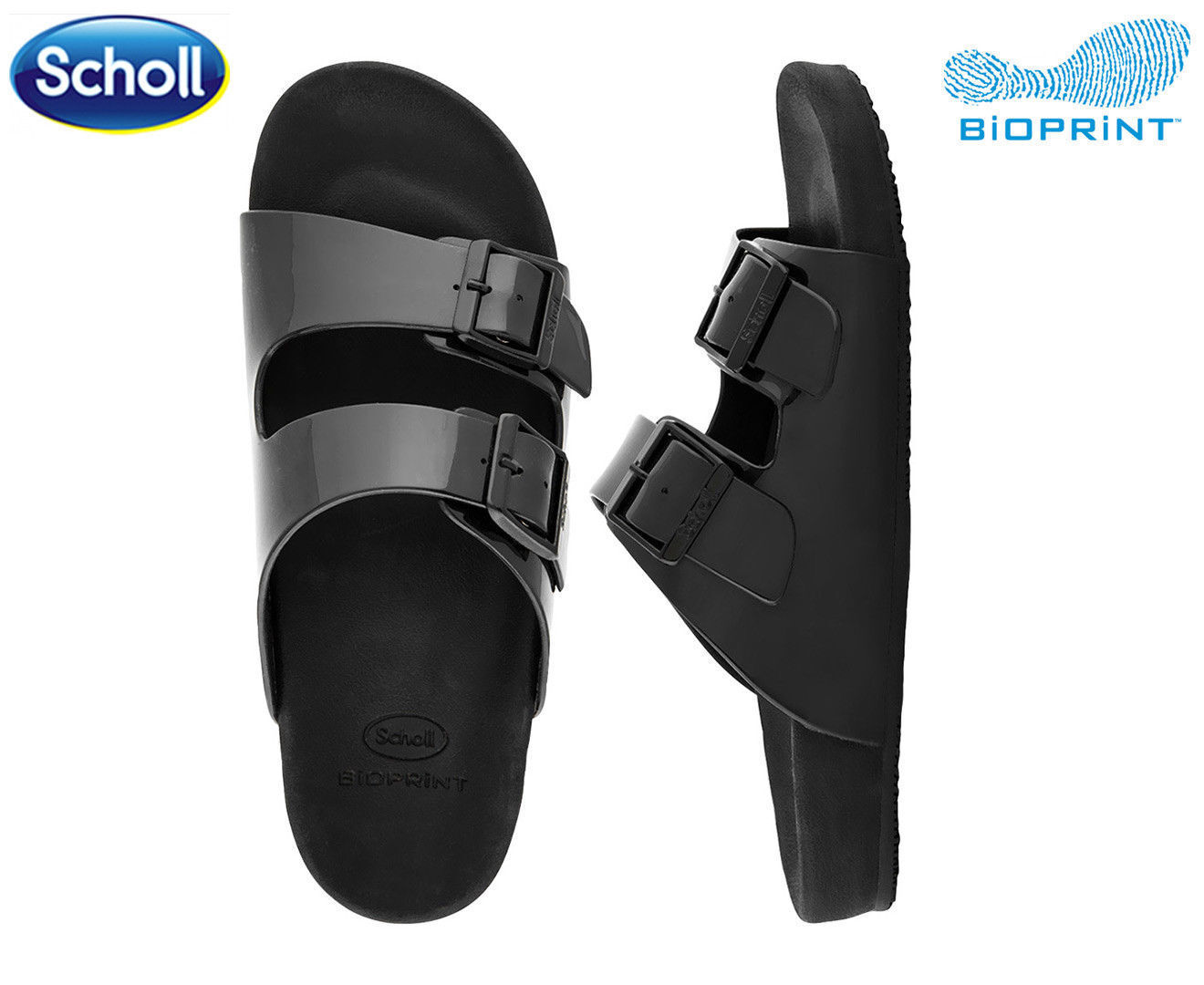 SCHOLL MENS LUCAS SANDAL  BLACK - UK 11