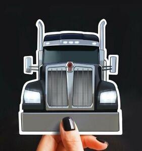 Lime Green Peterbilt Sticker Semi Truck Decals Big Rig Trucker Tool Box Man Cave