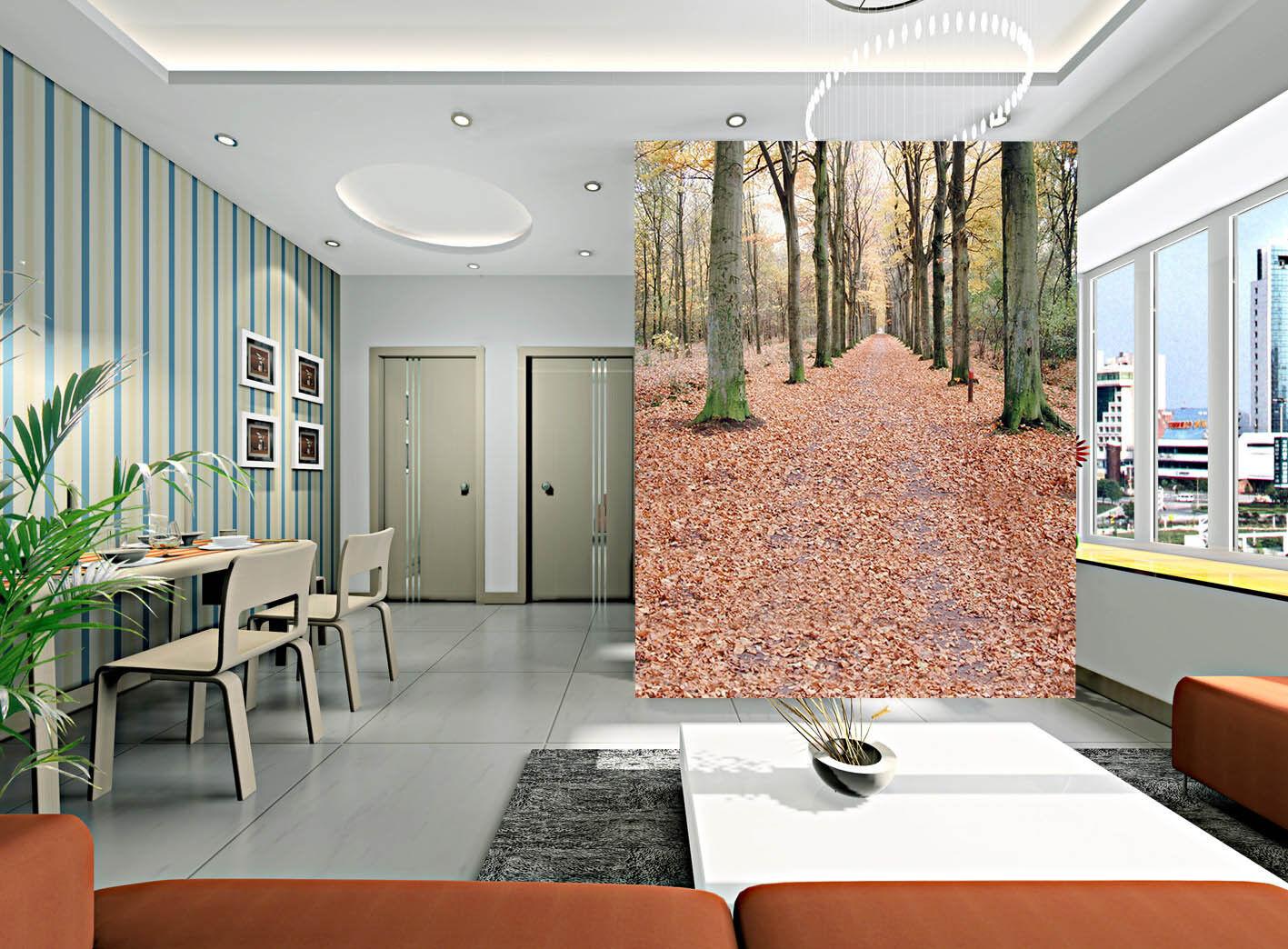 Papel Pintado Mural De Vellón Bosque Caducifolio 22 Paisaje Fondo De Pansize ES