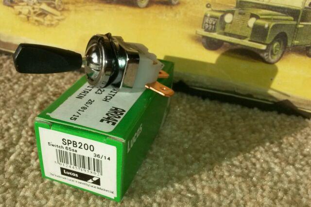 Land Rover Series 2 2a 3 Lights Switch Genuine Lucas RTC430 Dash Panel SPB200