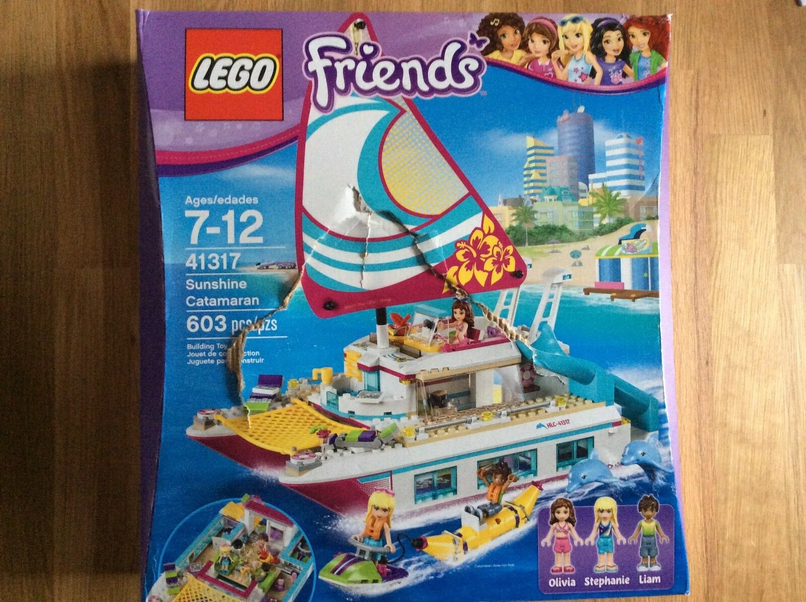New Lego Friends Sunshine Catamaran Set 41317 in Sealed Damaged Box