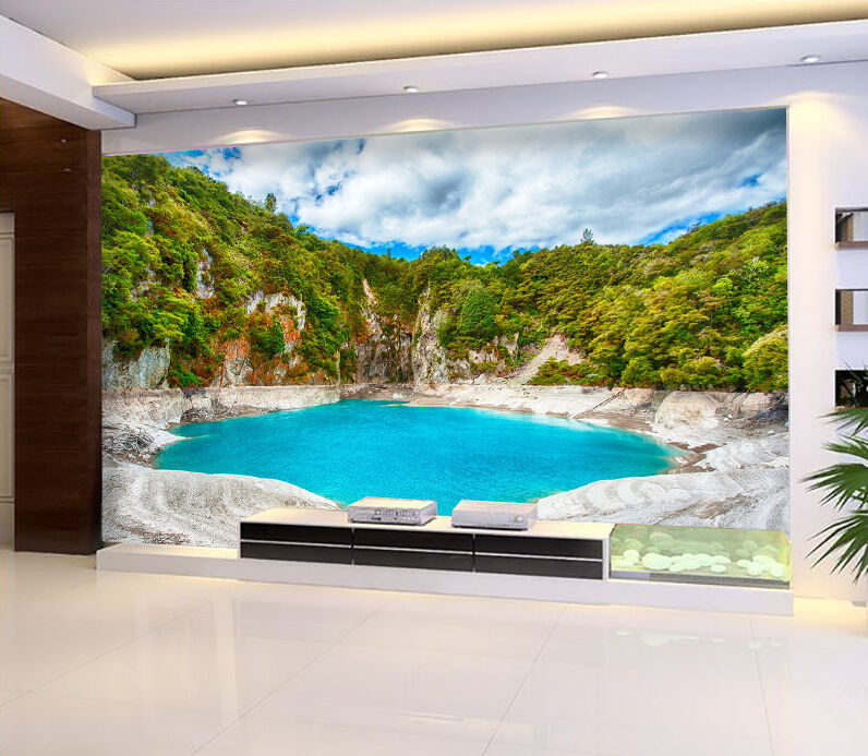 3D Mountain Lake Scenery 736 Paper Wall Print Wall Decal Wall Deco Indoor Murals
