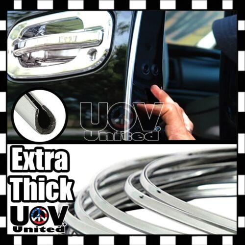 "200/"" Chrome Silver Car Door Edge Rim Guard Molding Trim Protector Strip DIY 16FT"