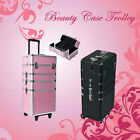 7 in 1 Portable Cosmetics Beauty Case Trolley Makeup Box Carry Bag Organiser