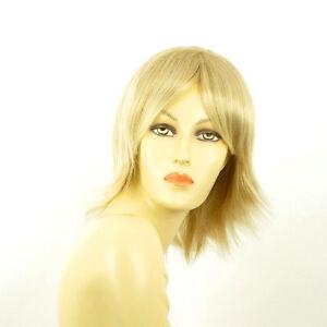 Perruque-femme-mi-longue-blond-dore-meche-blond-tres-clair-NEIGE-24BT613
