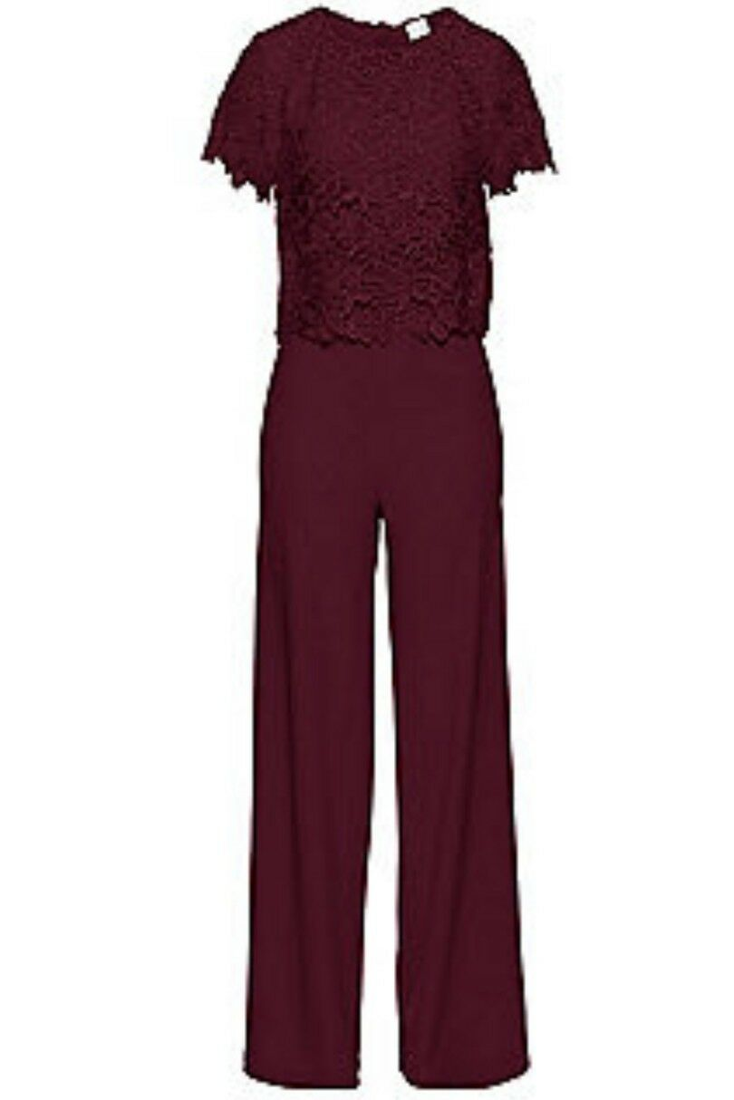A17Body Flirt Lace Bodice JumpsuitMaple Red Size RRP .99