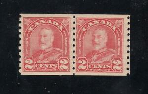 CANADA-LOT-KSG-77-181-FVF-MLH-PAIR-KGV-2cts-COILS-CAT-VALUE-50
